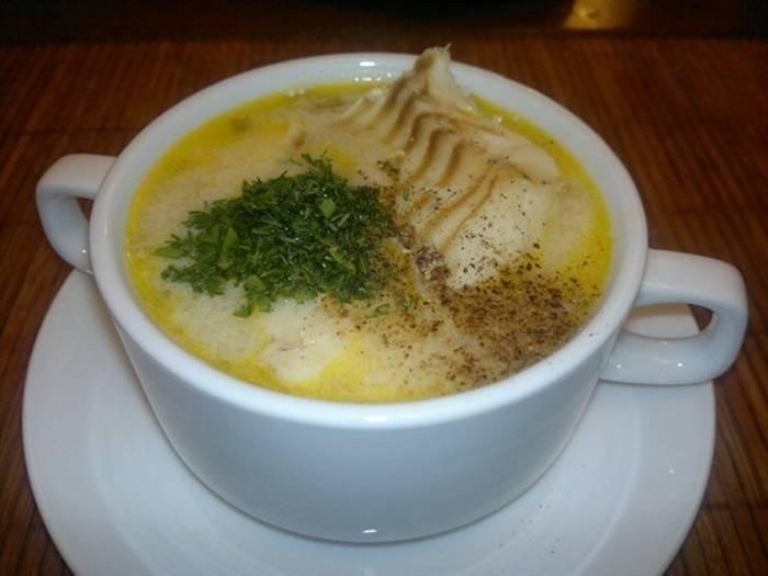 Рыбный суп из трески со сливками