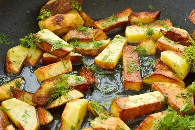 Жареный картофель «Орешки»