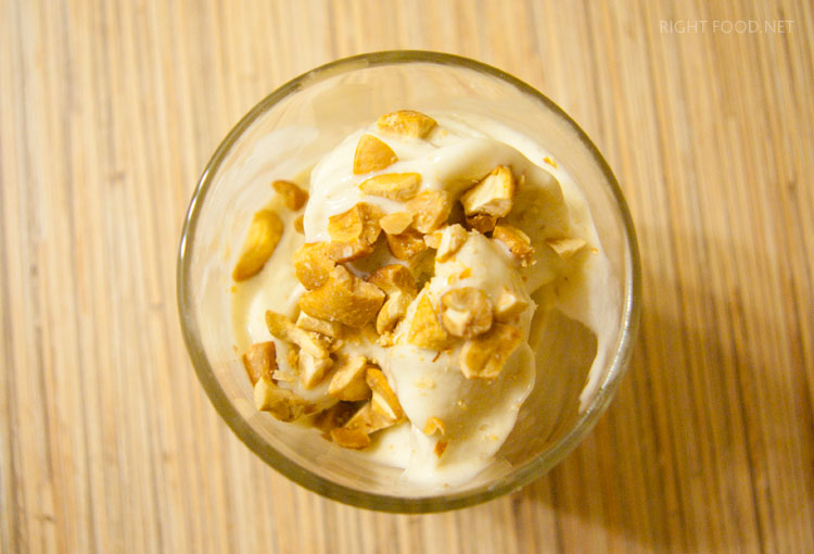 Низкокалорийное банановое мороженое
