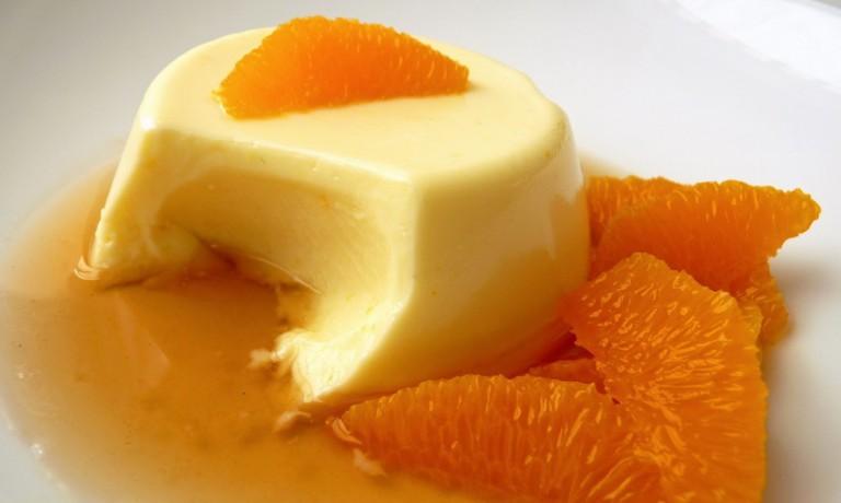 Диетическая панакота с апельсином