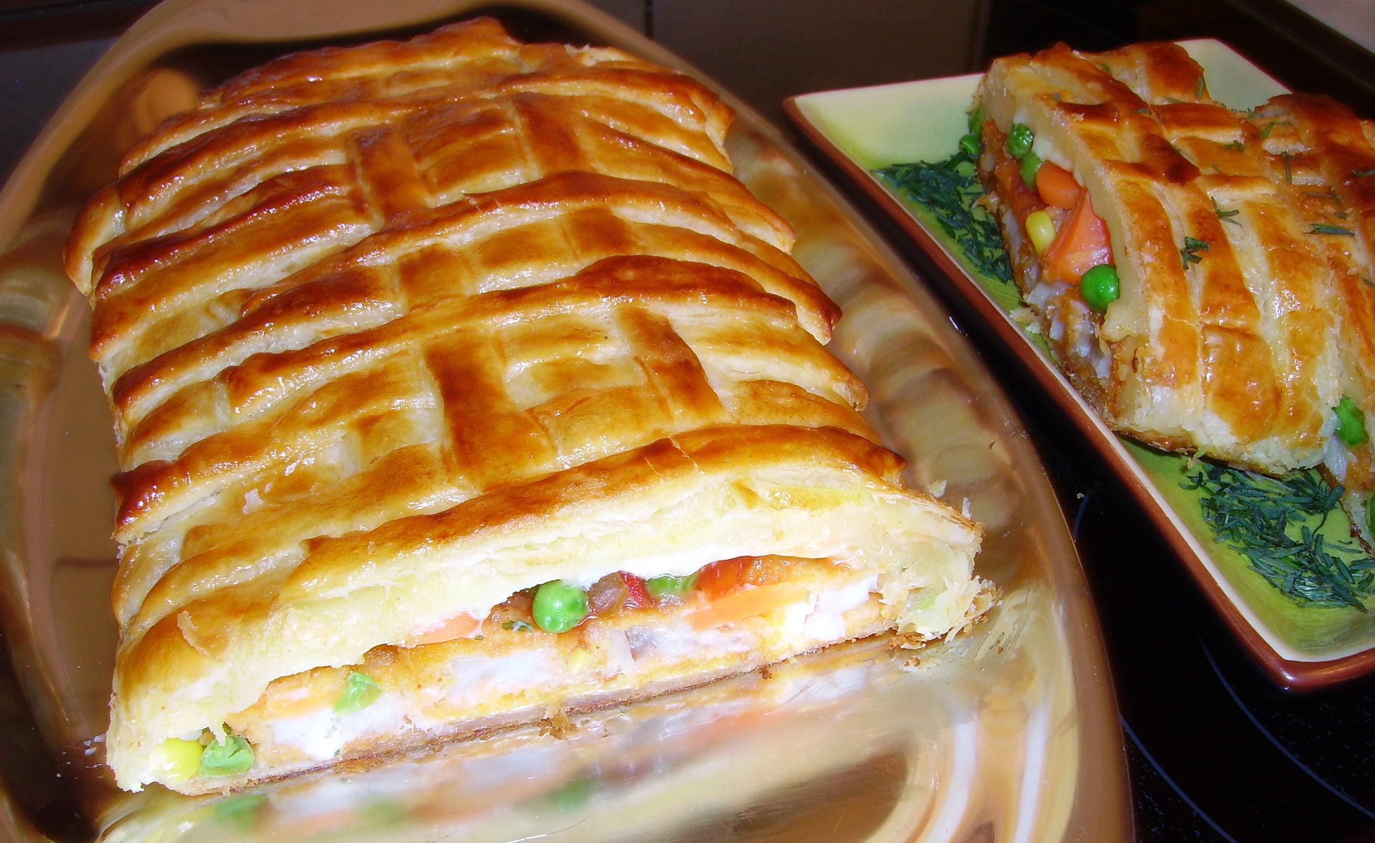 Пирог «Яичница с беконом»