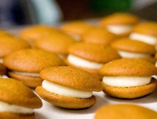 Тыквенное печенье со сливочным кремом