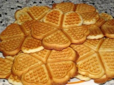 Печенье в вафельнице на газу