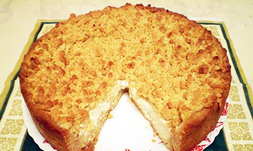 Как приготовить творожный хрустящий пирог