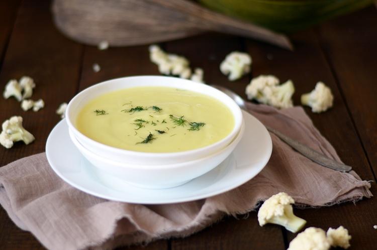 крем суп из кабачков и цветной капусты