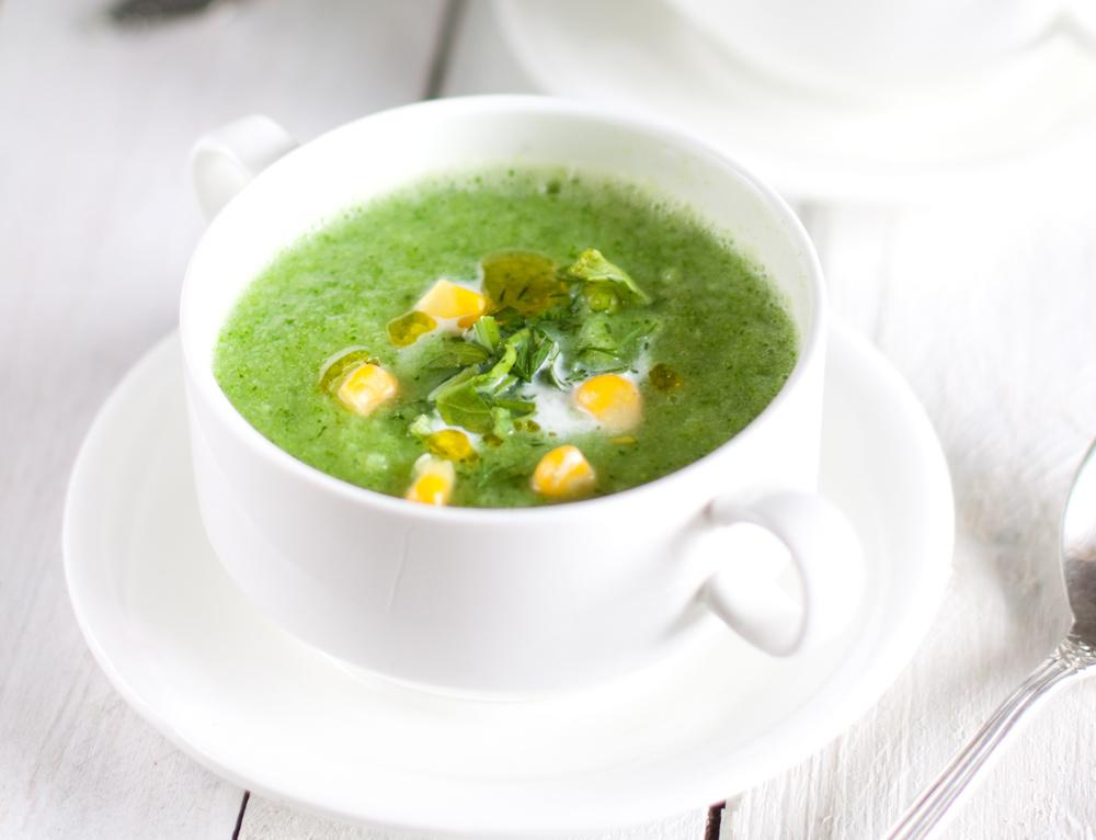 Суп из цукини с базиликом