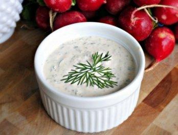 Сливочно–чесночный соус