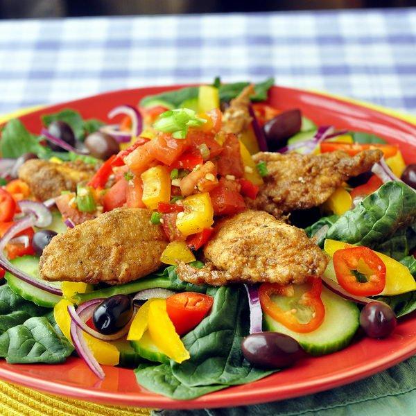 Куриный салат по-мексикански