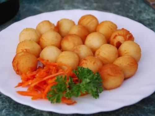 Постная закуска «Шарики» из картофеля