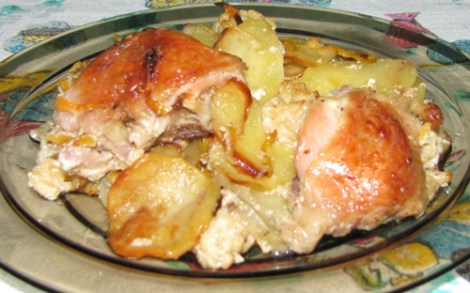 Сытный завтрак: картофельные дранки с сыром и ветчиной