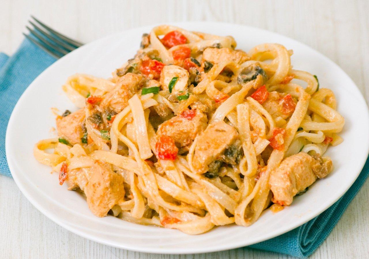 Пенне с рыбой в сливочном соусе рецепт