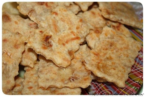 Крекеры сырные из гороховой муки