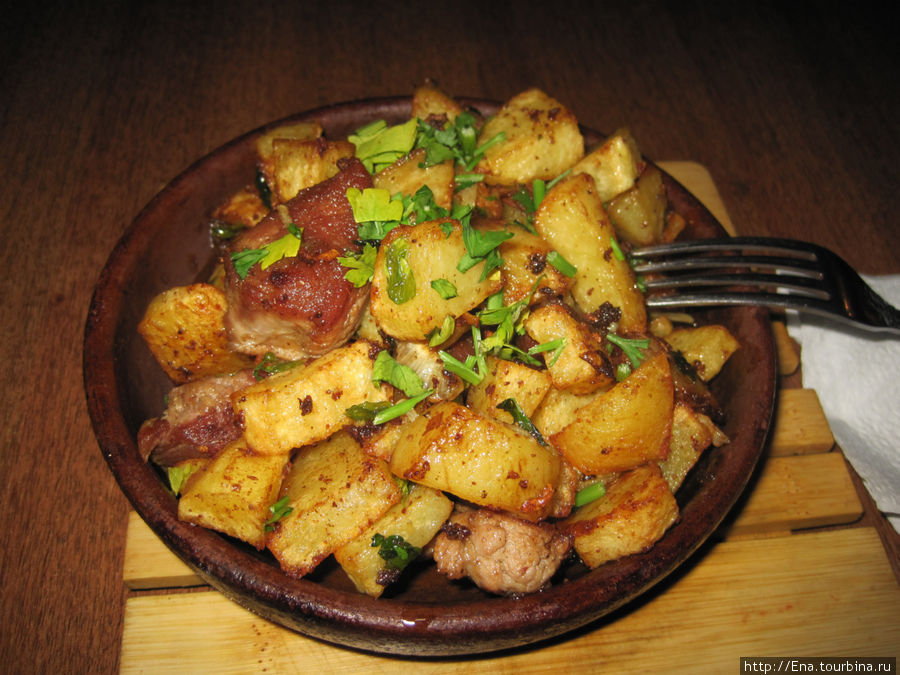 Мясо с картошкой тушеное на сковороде рецепт с пошагово