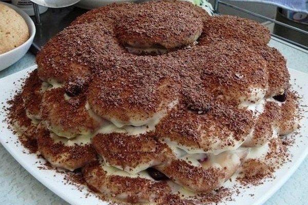 Домашний торт «Черепаха» со сметанным кремом