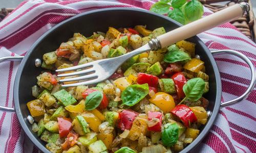 Запеканка с кабачками (лёгкий ужин)