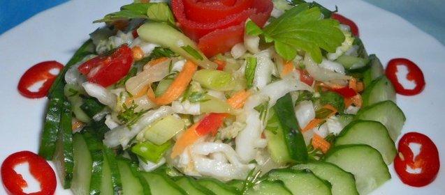 Морковный салат с перчинкой
