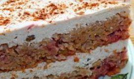 Овсяный пирог с клубникой и творогом