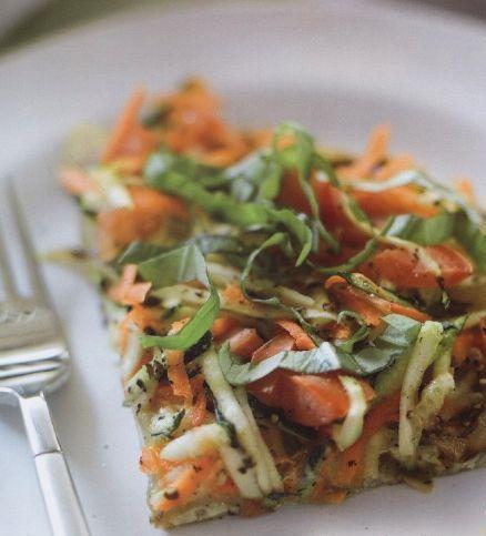 Фриттата с цуккини и морковью