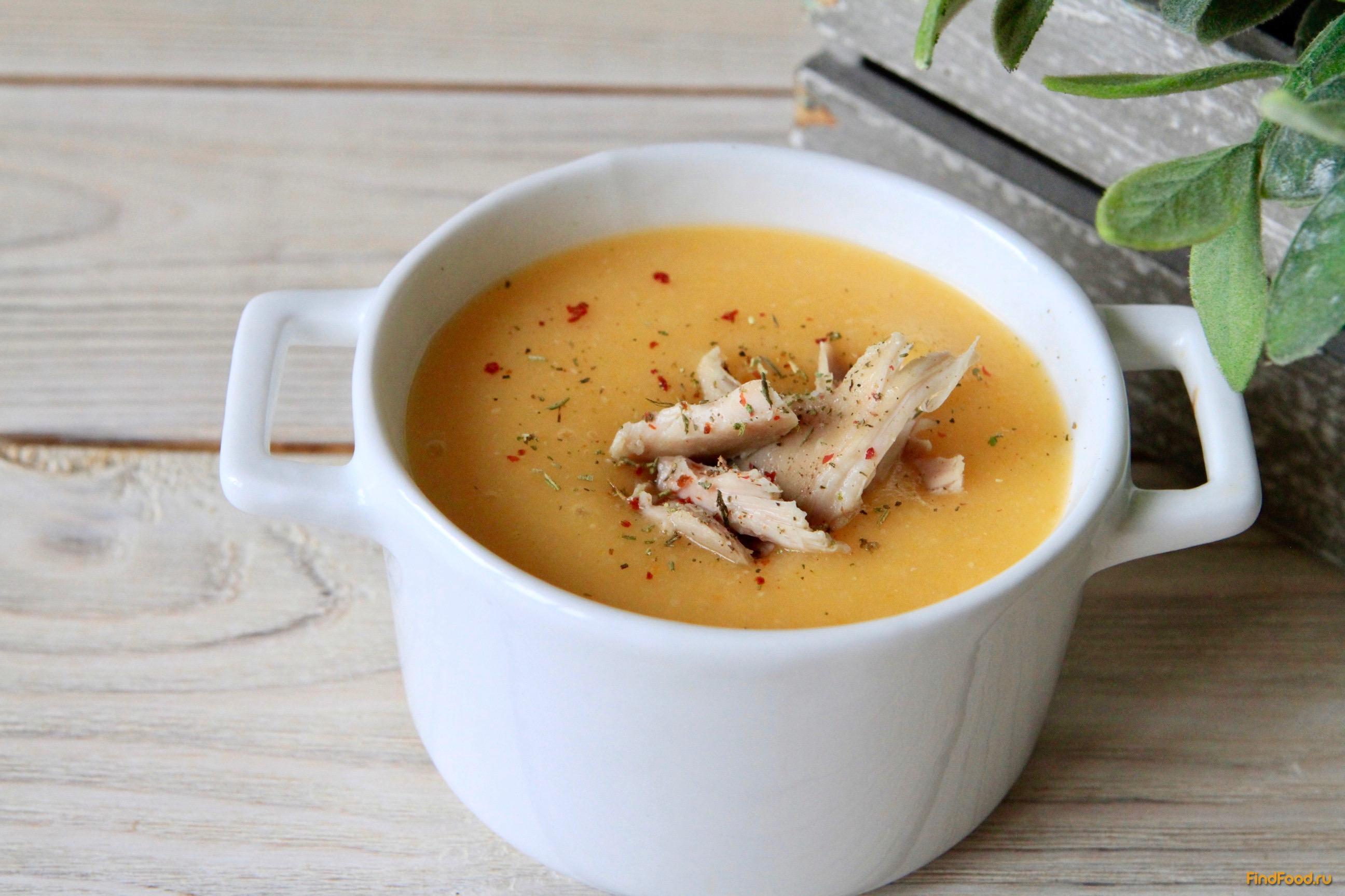 Суп пюре из овощей и фасоли