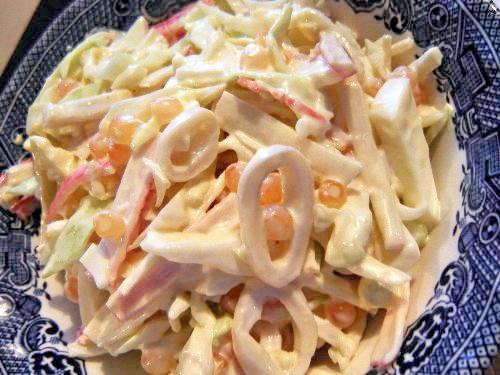 Самый вкусный салат с кальмарами
