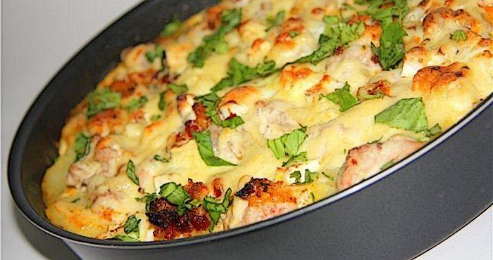Запеканка из курицы с картошкой в духовке с рецепт пошаговый