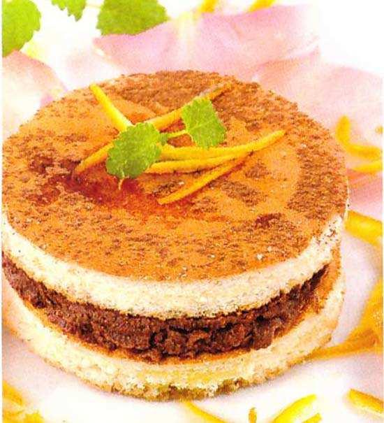 Шоколадно-апельсиновые пирожные