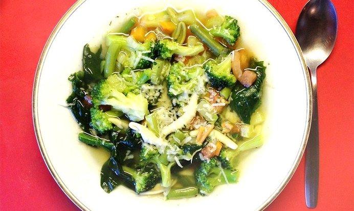 Суп «Минестроне» с брокколи
