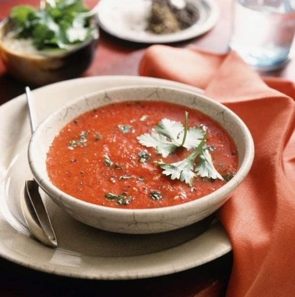 Крем-суп из баклажанов и томатов