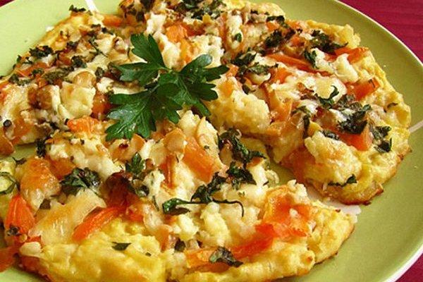 Картофельная пицца с моцареллой и грибами