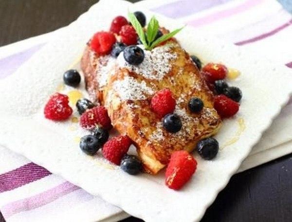 Французские тосты с ванилью и ликером
