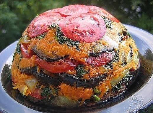 Летний овощной торт