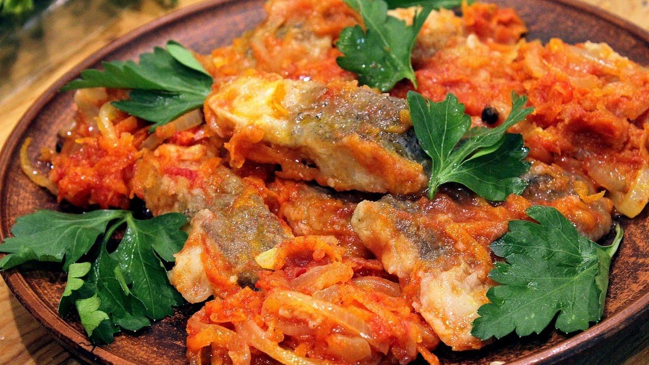 Заливная рыба в томате