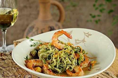 Овощной салат со спаржей