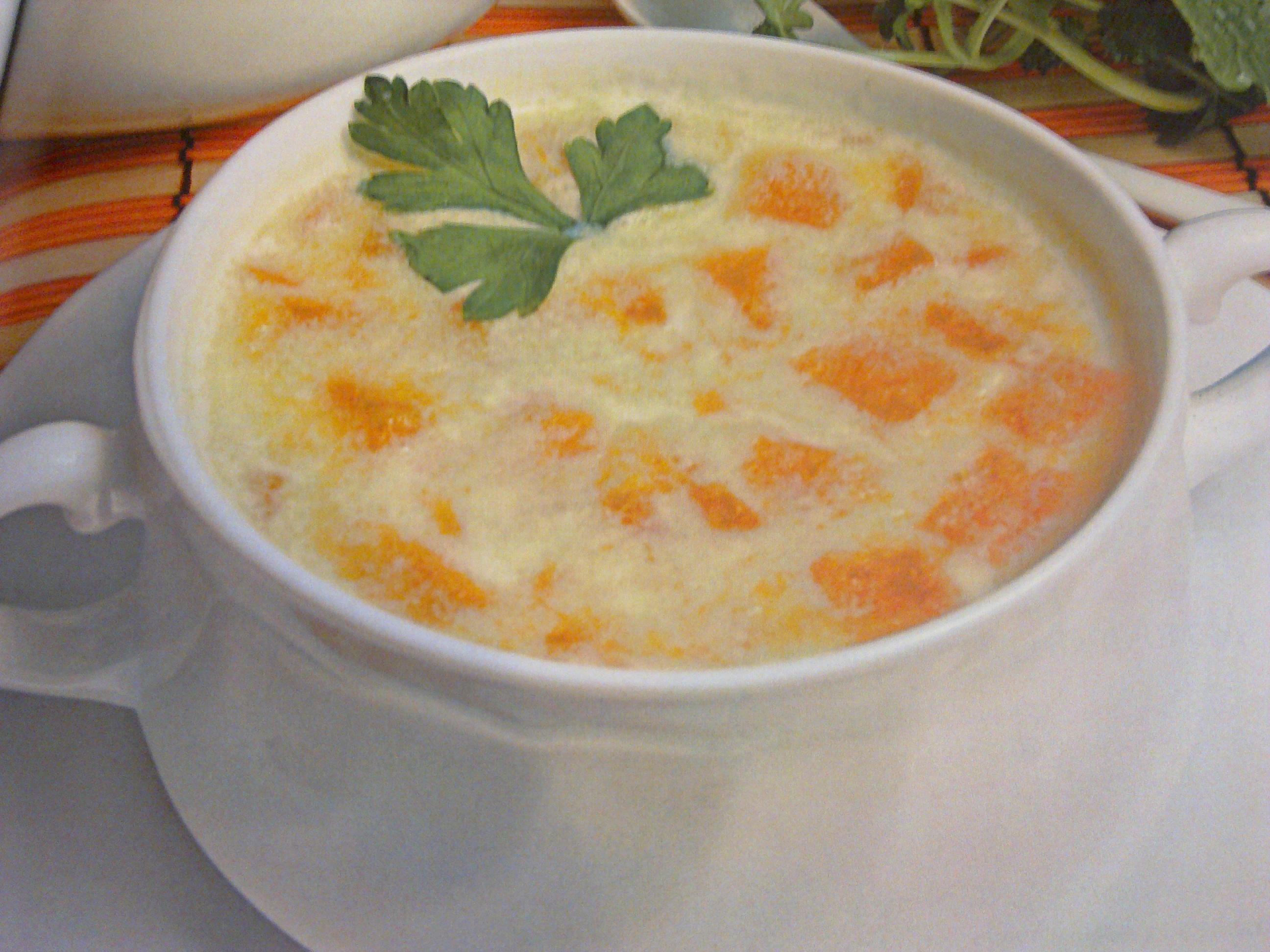 Молочный тыквенный суп с геркулесом