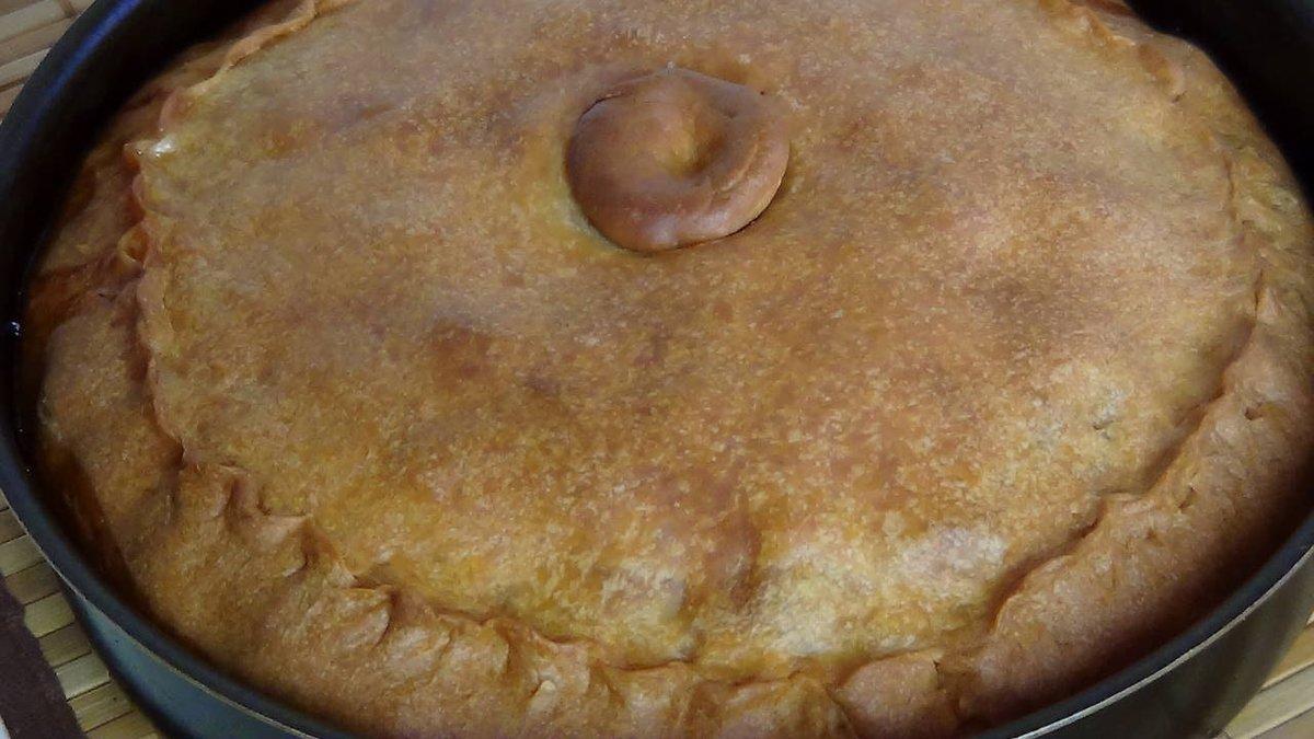 Татарский пирог с мясом и картошкой