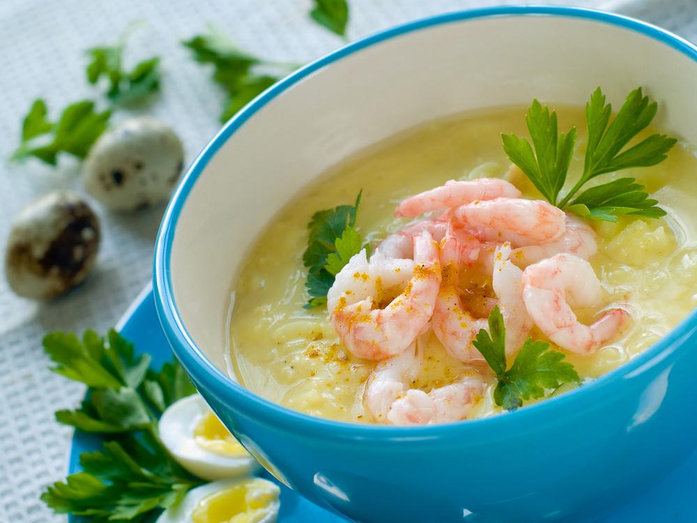 Суп – пюре с креветками