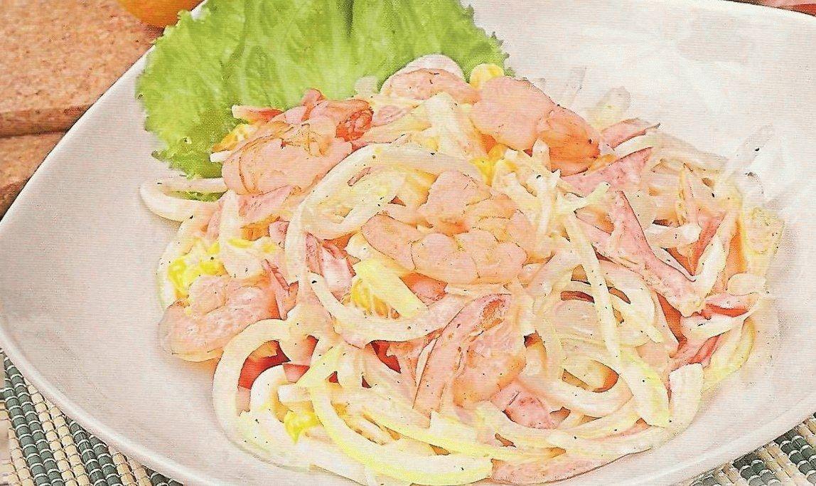 Салат из кальмаров простой и вкусный