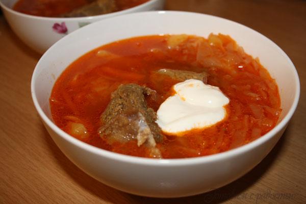 Борщ со свеклой и капустой без томатной пасты и мяса