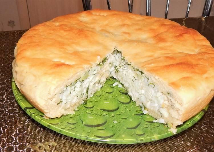Постный пирог с рыбой