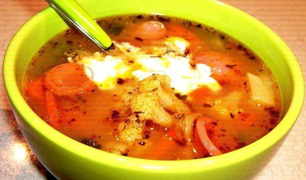 Фасолевый суп на скорую руку