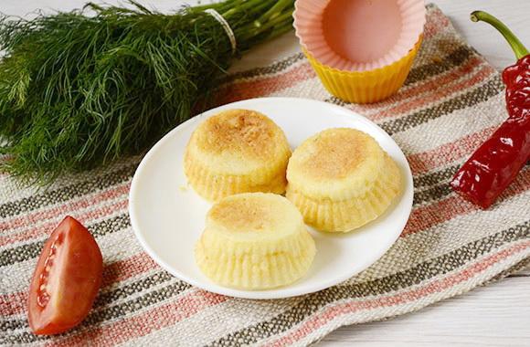 Закусочные кексы из плавленых сырков