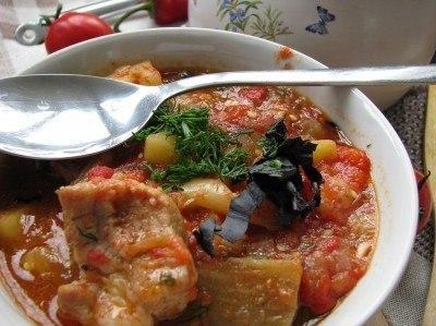 Суп «Кавказский» с ребрышками