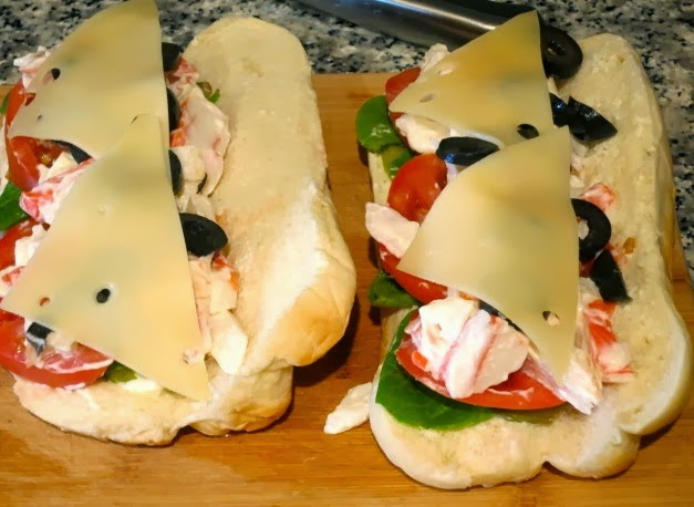 Бутерброды с крабовым мясом
