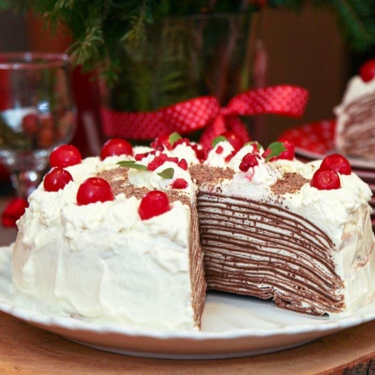 Блинный торт с творожным кремом «Красная полянка»