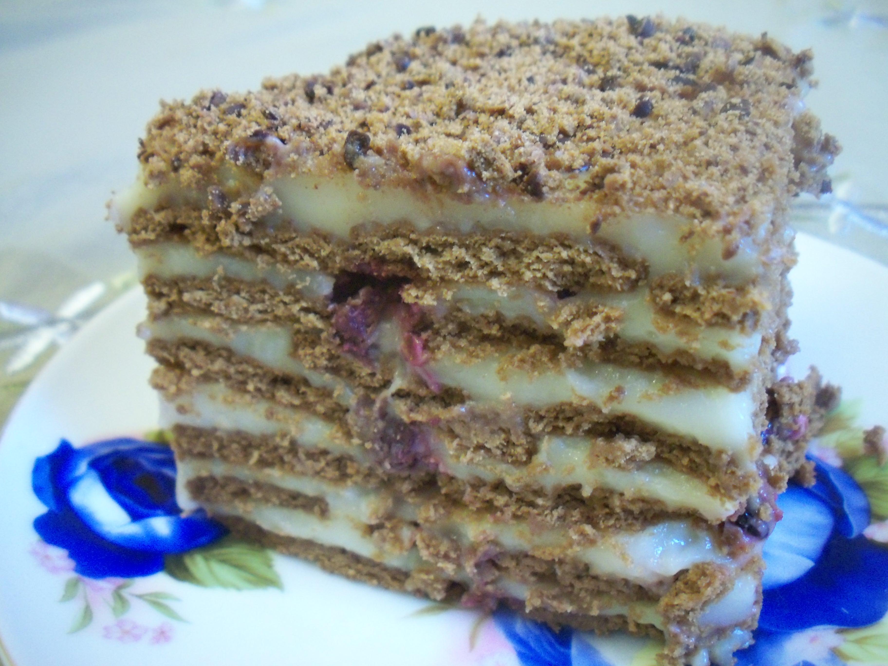 Воздушный торт из печенья «Радость вкуса»