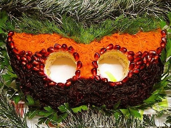 Салат «Новогодняя маска»