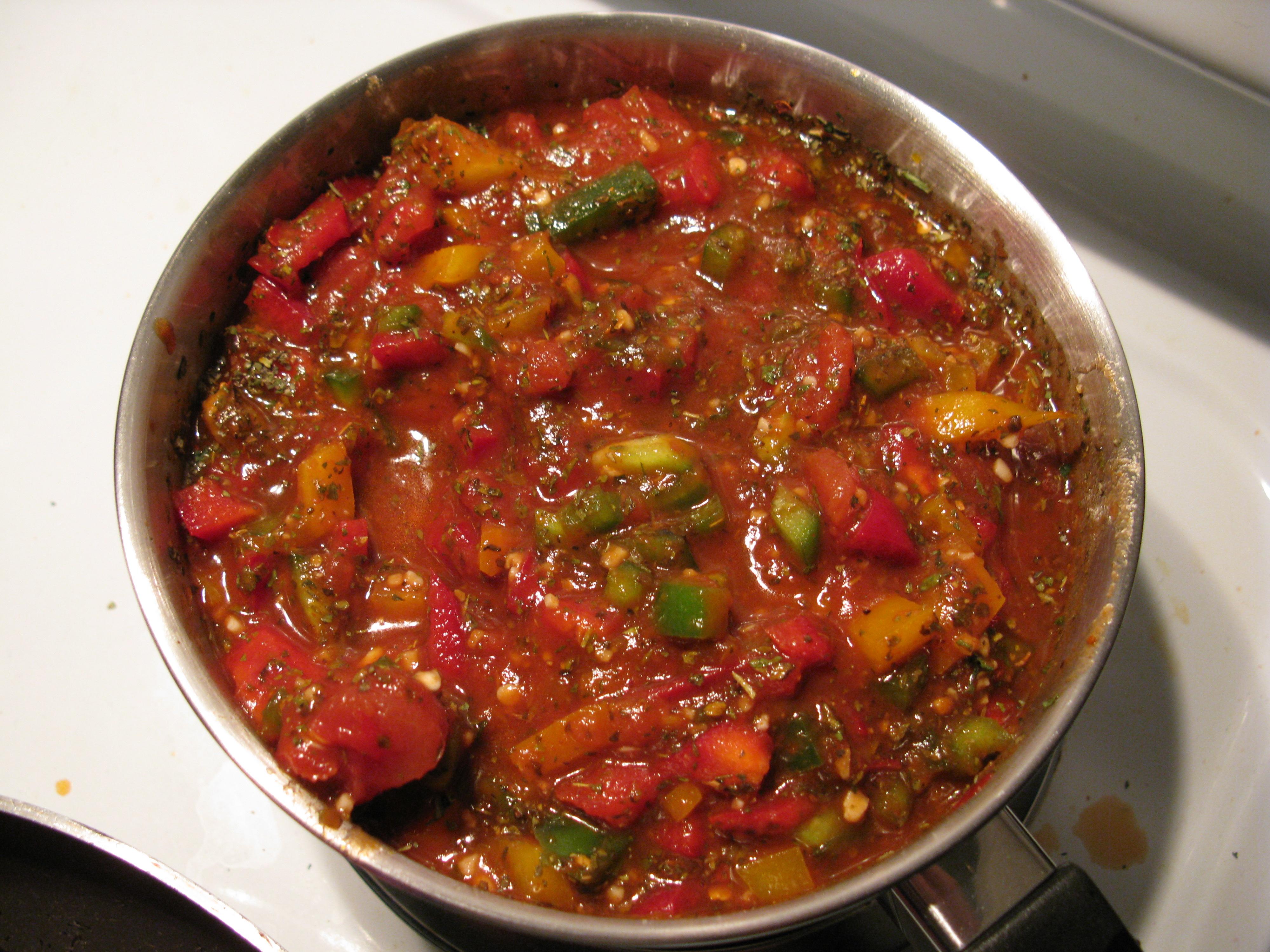 Матбуха — соус из тушеных овощей