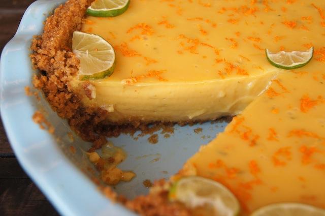 Тарт из ревеня с апельсином