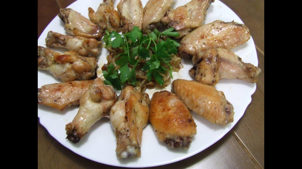 Маринованные крылышки, запеченные в духовке