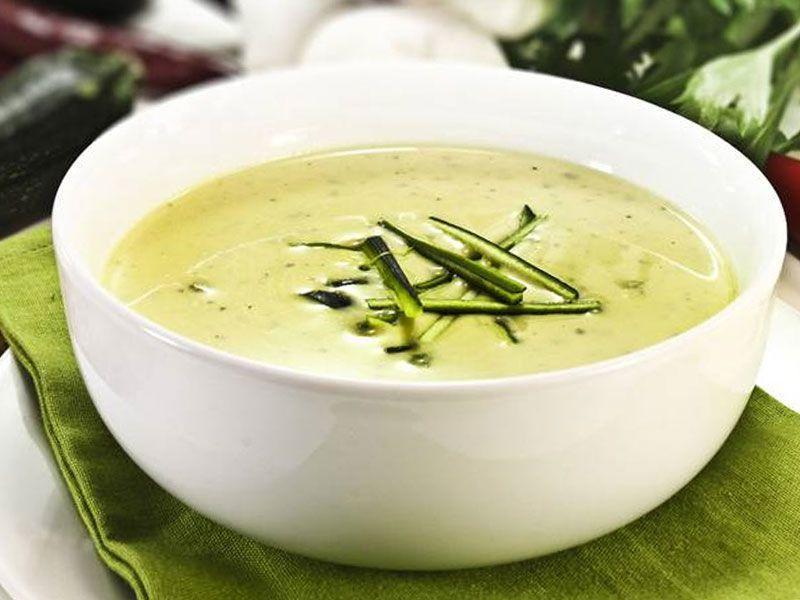 Крем-суп из топинамбура бычьими хвостами